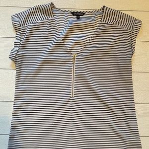 Express black and white striped top.